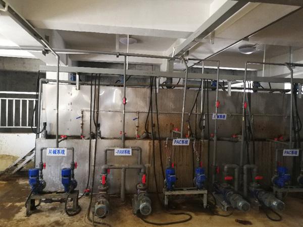 废水污水处理机房现场