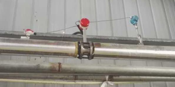烨立工控涡街流量计用于现场蒸汽测量