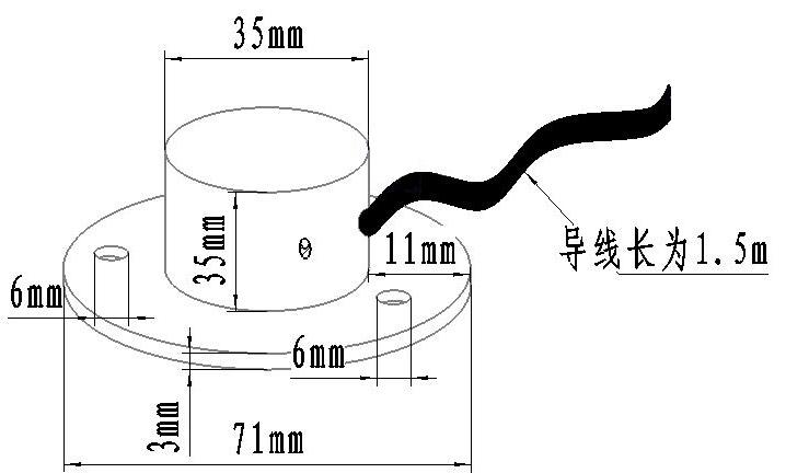 大气压力传感器尺寸图