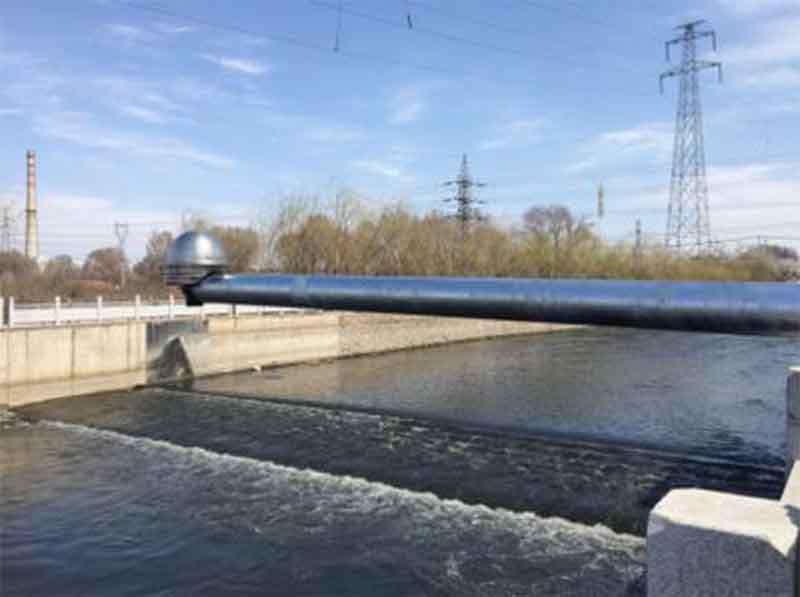 河道水位分体式超声波液位计测量