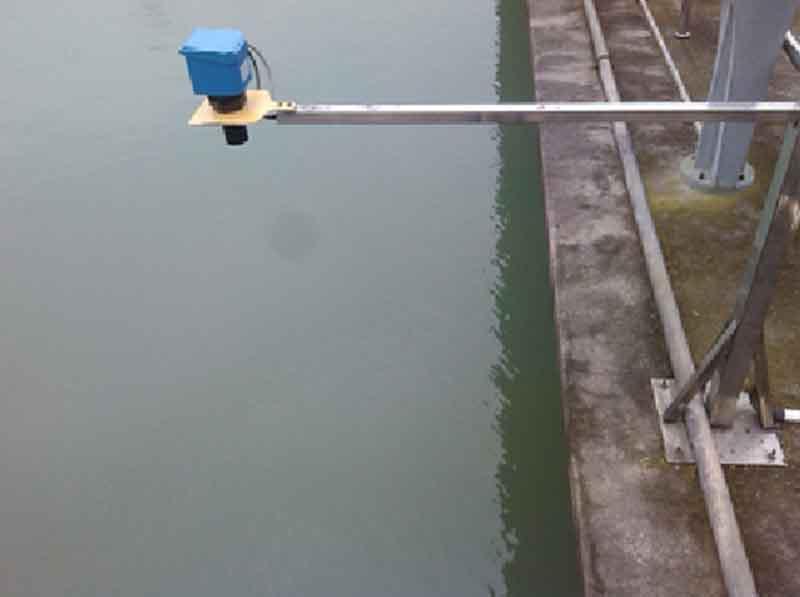 水池安装超声波液位计展示