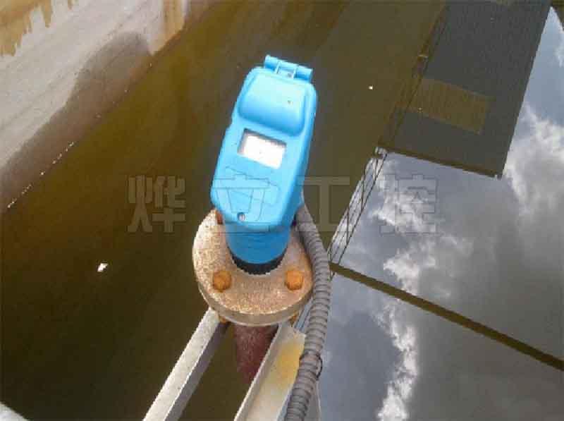 烨立超声波液位计测量渠道水位