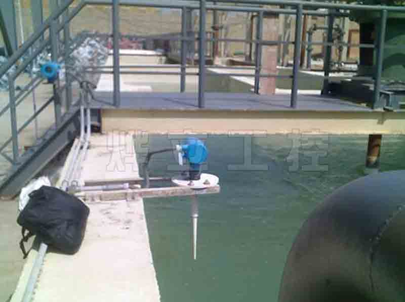 导波雷达液位计测量水库